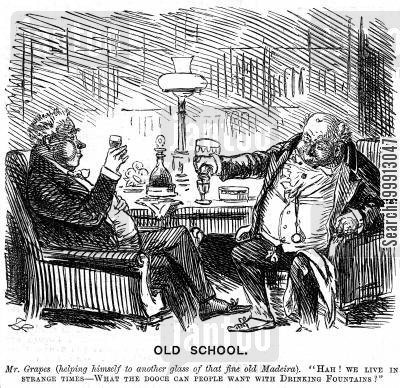 upper class cartoon humor: Men drinking