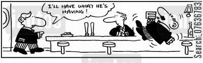 floats cartoon humor: 'I'm having what he's having.'