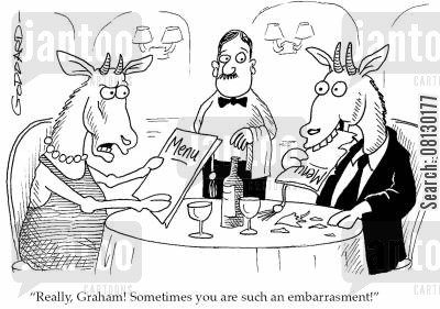 embarrasment cartoon humor: 'Really, Graham! Sometimes you are such an embarrasment!'