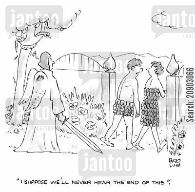 chucked out cartoon humor: 'I suppose we'll never hear the end of this.'