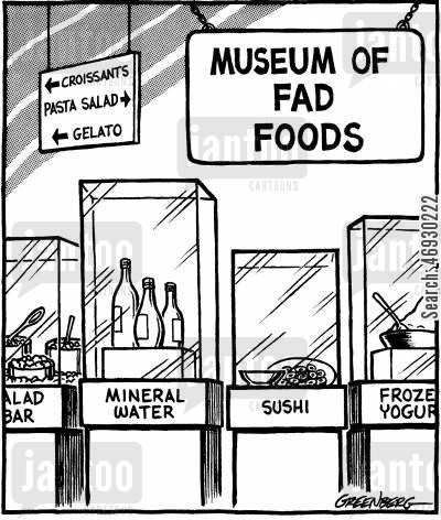 fads cartoon humor: Museum of fad foods.
