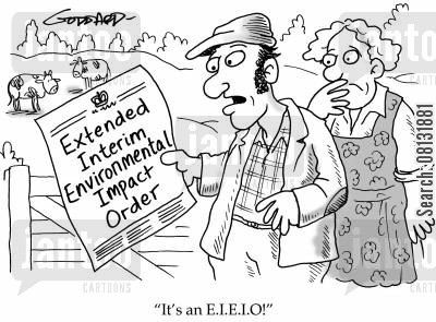 bureaurocracy cartoon humor: 'It's an EIEIO!'
