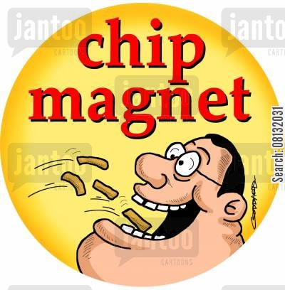 chip magnet cartoon humor: Chip Magnet