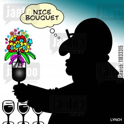shiraz cartoon humor: Nice bouquet.