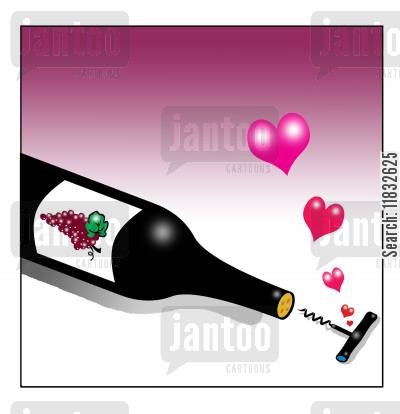 fine wine cartoon humor: true love.