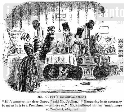 bleak house cartoon humor: Mr. Guppy's entertainment
