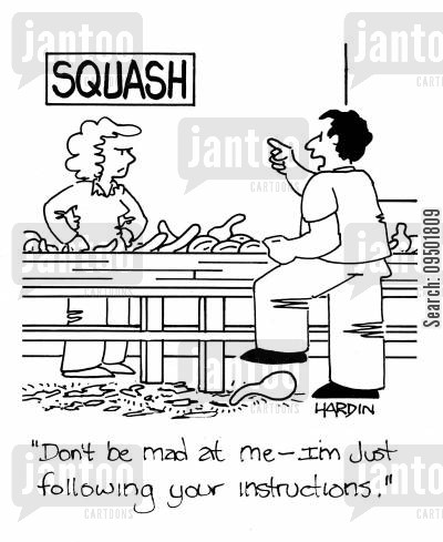 root vegetable cartoon humor: 'Don't be mad, I'm just following your instructions.'