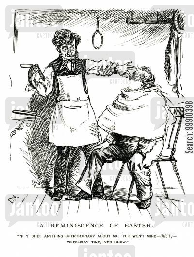 hairdressers cartoon humor: Drunk Barber