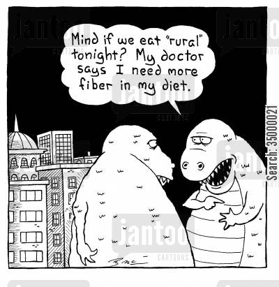 fibre cartoon humor: Mind if we eat rural tonight?My doctor says I need more fibre in my diet.