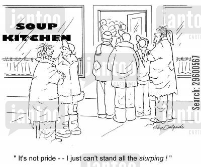 handout cartoon humor: 'It's not pride - I just can't stand all the slurping!'