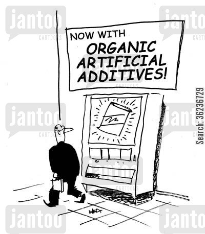 artificial cartoon humor: Now With Organic Artifical Additives
