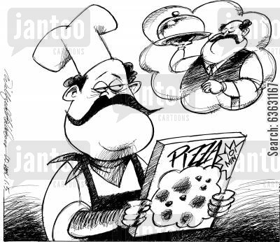 italian foods cartoon humor: Ideals and realities - slow food or fast?