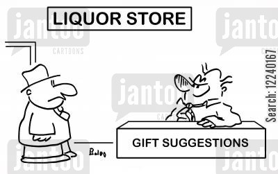 shoppers off license cartoon humor: Liquor Store - Gift Suggestions.