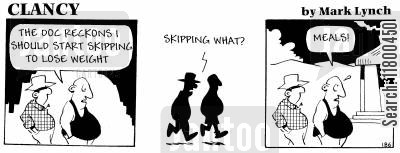 skipping meals cartoon humor: Clancy: Skipping Meals