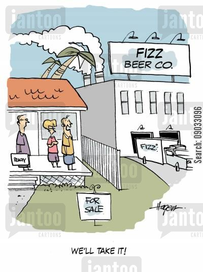 beer factories cartoon humor: 'We'll take it!'