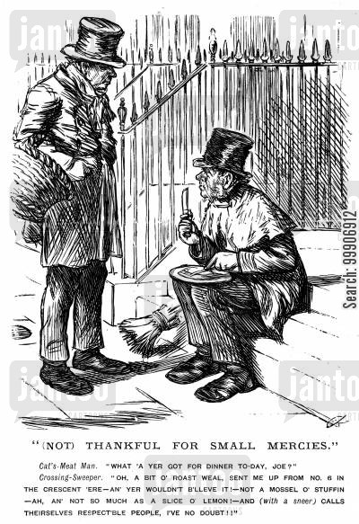 proverbs cartoon humor: A beggar being a chooser