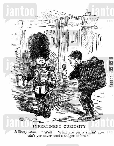 grenadier guards cartoon humor: Impertinent Curiosity