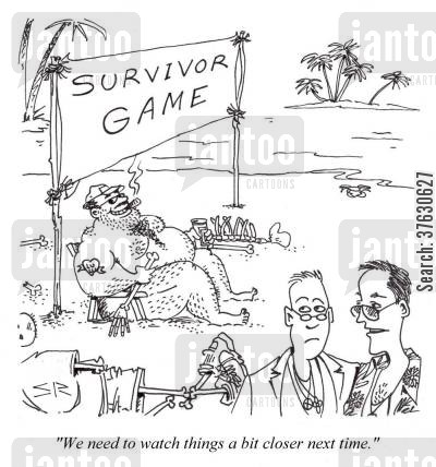 surviving cartoon humor: 'We need to watch things a bit closer next time.'