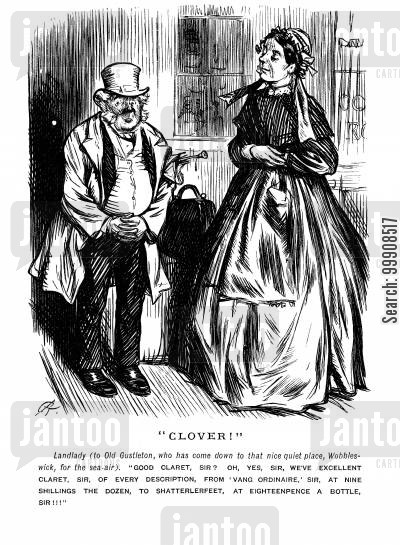 victorian remedies cartoon humor: Arriving At An Inn