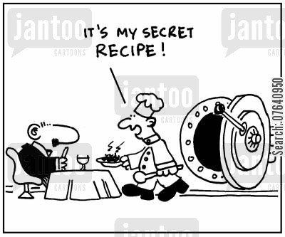secret recipe cartoon humor: 'It's my secret recipe.'