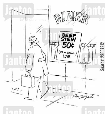 pricings cartoon humor: Beef Stew.