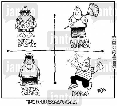seasoning cartoon humor: The Four Seasonings.