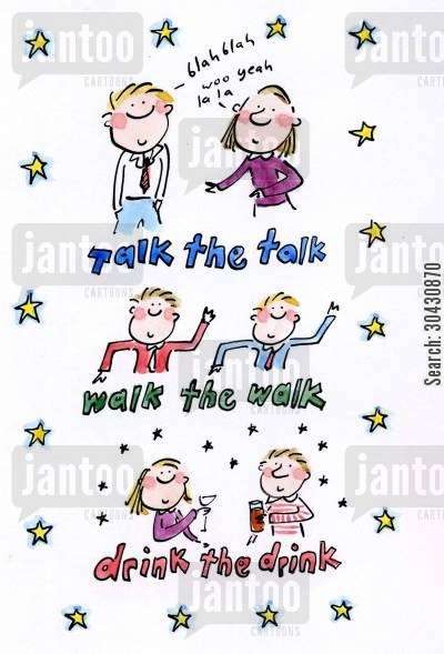 student lifestyles cartoon humor: Talk the talk...