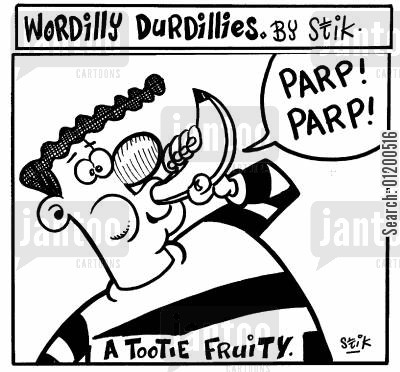 fruity cartoon humor: Wordilly Durdillies - A tootie fruitie