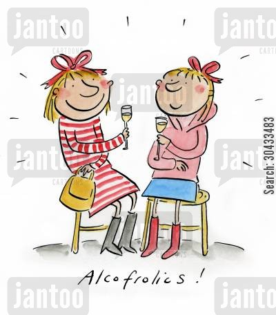 drunken behaviour cartoon humor: Alcofrolics