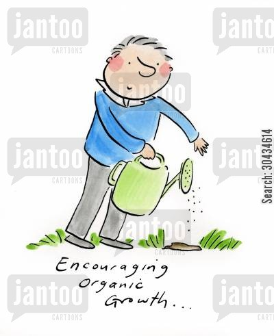 organic farming cartoon humor: Encouraging Organic Growth...