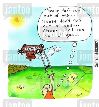 cut the grass cartoon humor: Please don't run out of gas...