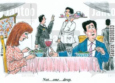 drinking problem cartoon humor: 'Not...one...drop.'