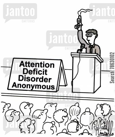 therapy sessions cartoon humor: Attention Deficit Disorder Anonymous