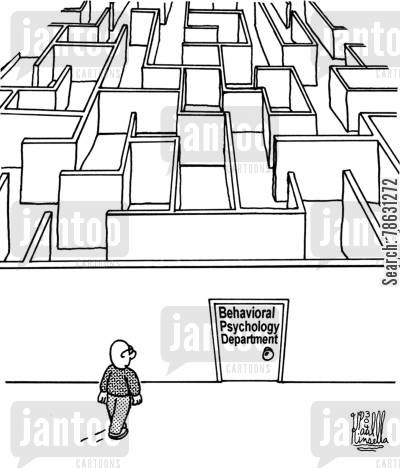 behavioral cartoon humor: Behavioral Psychology Department