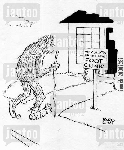 legendary cartoon humor: Foot Clinic.