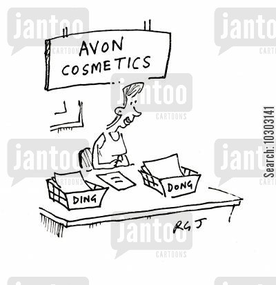 make overs cartoon humor: Avon Cosmetics - Ding Dong