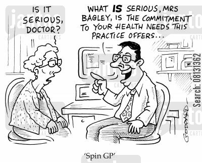 healthy cartoon humor: 'Spin GP'