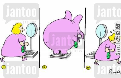 body images cartoon humor: Self-concept of a weight watcher.