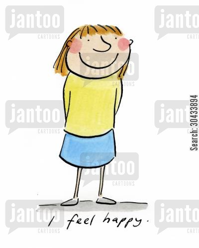 joy cartoon humor: I feel happy