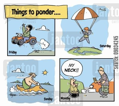 fender bender cartoon humor: Things to Ponder.