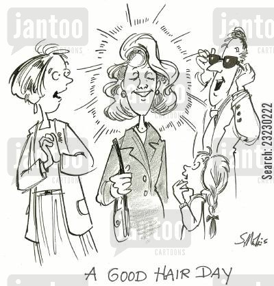 groomed cartoon humor: Good Hair Day