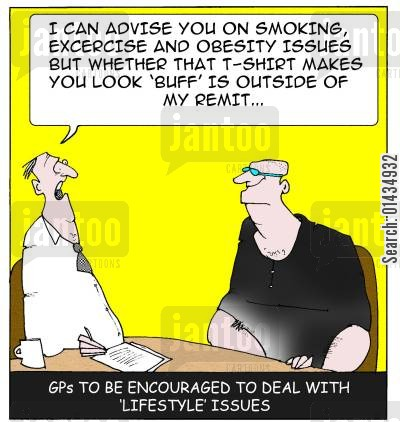 fashion advise cartoon humor: GPs to be encouraged to offer advice on 'lifestyle' issues...