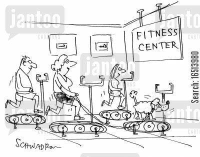 fitness centre cartoon humor: Fitness centre.