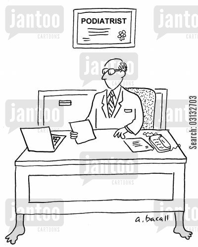 podiatrists cartoon humor: podiatrist