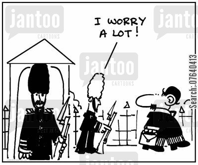 grey hairs cartoon humor: 'I worry a lot.'