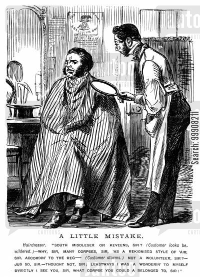 hair dressers cartoon humor: A Little Mistake.