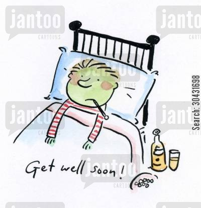 pox cartoon humor: Get well soon!