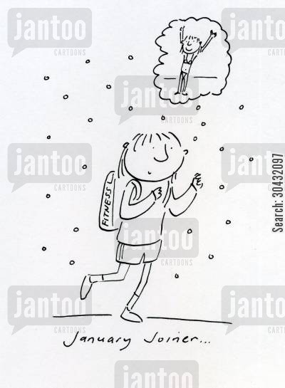 new year resolutions cartoon humor: January Joiner