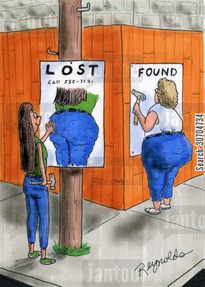 missing posters cartoon humor: LostFound.