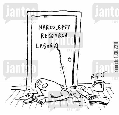 narcolepsy cartoon humor: Narcolepsy Research Labora...